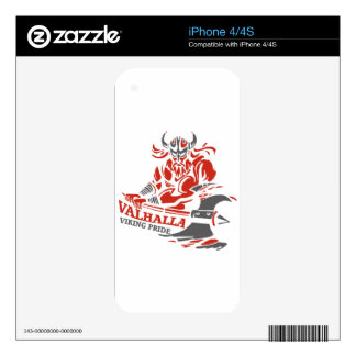 Valhalla - Viking Pride - War Armor Axe Design Decals For The iPhone 4S