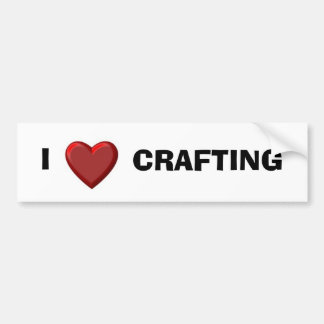 valheart1, I, CRAFTING Bumper Sticker