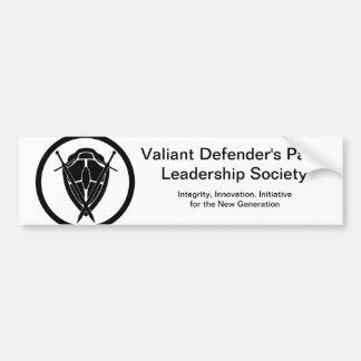 Valiant Defender's Party Principles Bumper Sticker Car Bumper Sticker