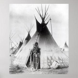 Valiente Blackfoot, cerca de Calgary, Alberta, 188 Póster