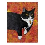 Valiente el gato postales
