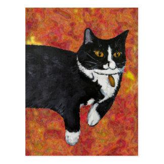 Valiente el gato tarjeta postal
