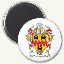 Valk Family Crest Magnet