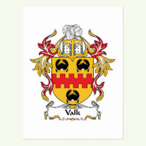 Valk Family Crest Postcard