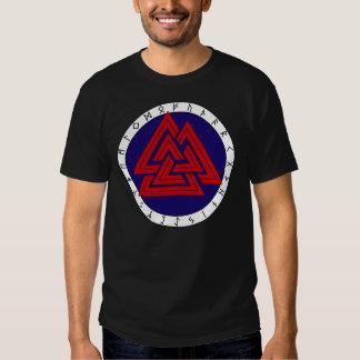 Valknot with Elder Futhark Tee Shirt