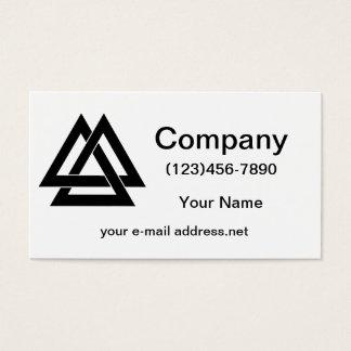Valknut - Black Business Card