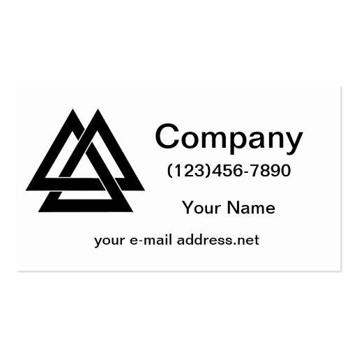 Valknut - Black Business Card Template