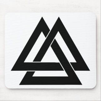 Valknut - Black Mouse Pad