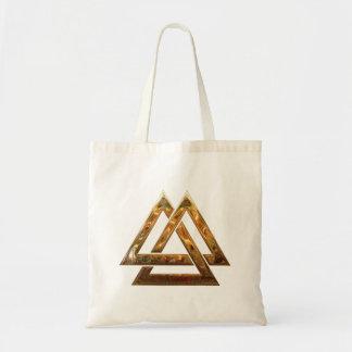 Valknut - Gold Budget Tote Bag