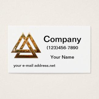 Valknut - gold business card