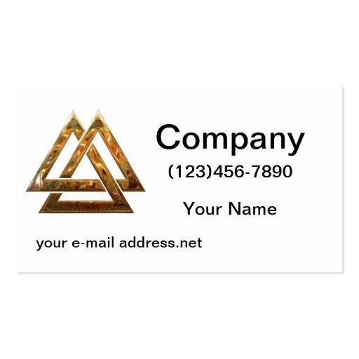 Valknut - gold business card templates