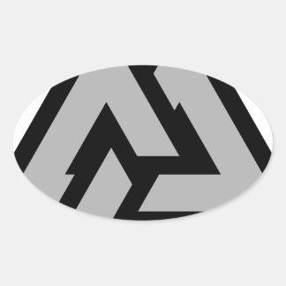 Valknut Oval Sticker