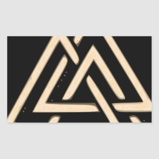Valknut Rectangular Sticker