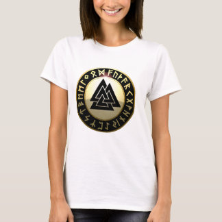 Valknut Rune Shield T-Shirt