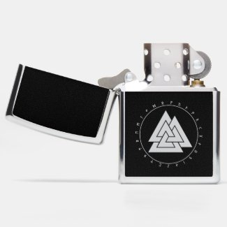 Valknut Runes Circle Lighters