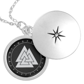 Valknut Runes Circle Necklaces