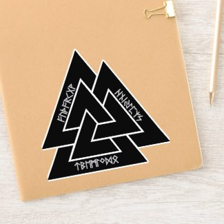 Valknut Runes Sticker (Vinyl)