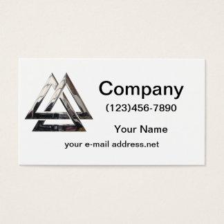 Valknut - silver business card
