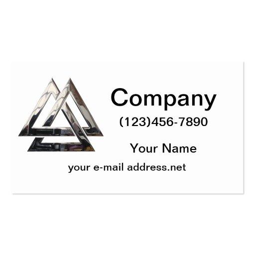 Valknut - silver business card template