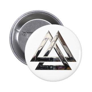 Valknut - silver button