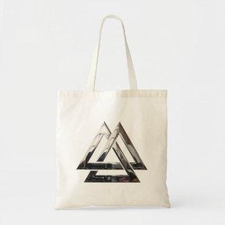 Valknut - Silver Tote Bag