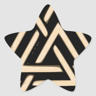 Valknut Star Sticker