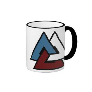 Valknut Symbol Ringer Coffee Mug