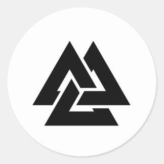 Valknut Symbol triquetra Classic Round Sticker