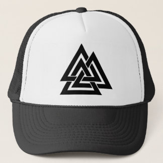 Valknut Viking Norse Nordic Protection Symbol Odin Trucker Hat