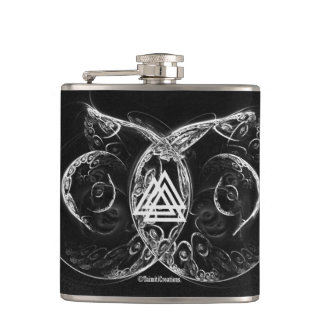 VALKNUT . Viking's raising Flask