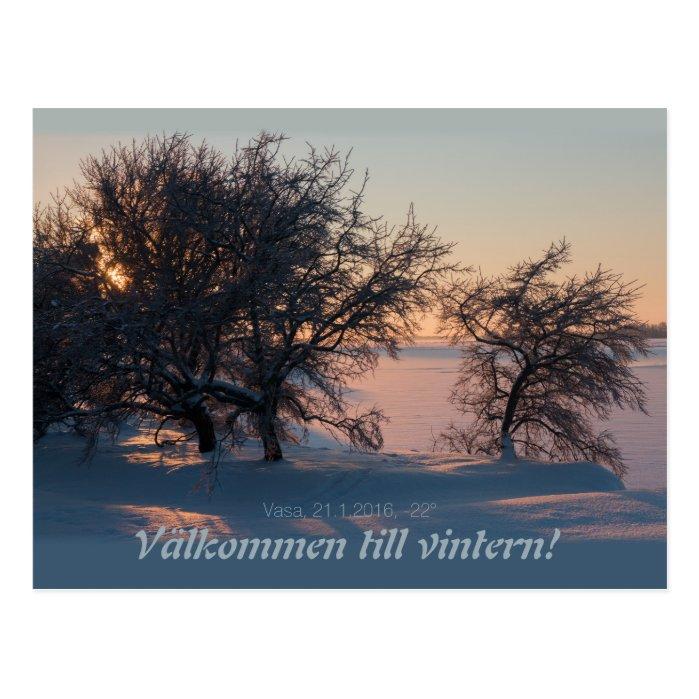 Välkommen till vintern! Vasa Vaasa Finland CC0828 Postcard