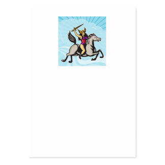 Valkyrie Amazon Warrior Riding Horse Business Cards