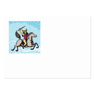 Valkyrie Amazon Warrior Riding Horse Business Card