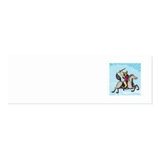 Valkyrie Amazon Warrior Riding Horse Business Card Templates