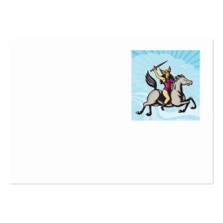 Valkyrie Amazon Warrior Riding Horse Business Card Template
