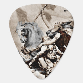 Valkyrie Carries Hero to Valhalla Guitar Pick