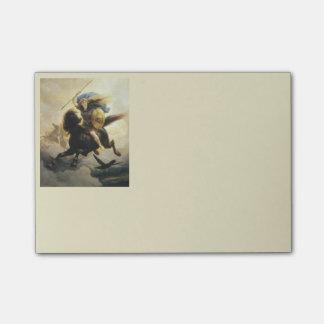 Valkyrie con el escudo a caballo post-it® notas