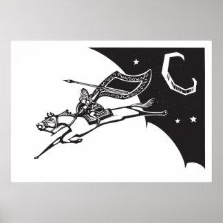 Valkyrie in Sky Poster