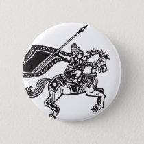 Valkyrie on Horse Pinback Button