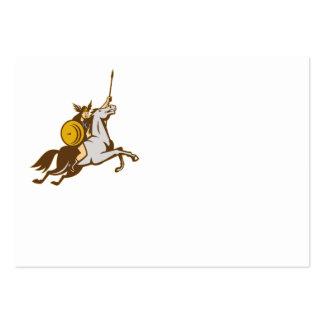 Valkyrie Riding Horse Retro Business Card Templates