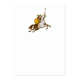 Valkyrie Riding Horse Retro Business Card