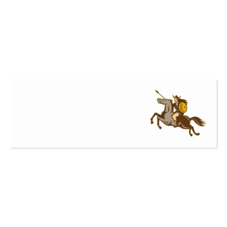 Valkyrie Riding Horse Retro Business Card Template
