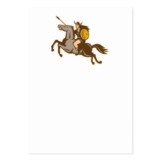 Valkyrie Riding Horse Retro Business Cards