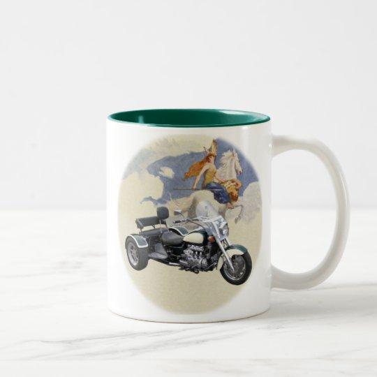Valkyrie Trike Two-Tone Coffee Mug