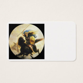 Valkyrie with Shield on Horseback Business Card