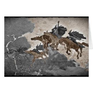 Valkyries en la tormenta tarjeta de felicitación
