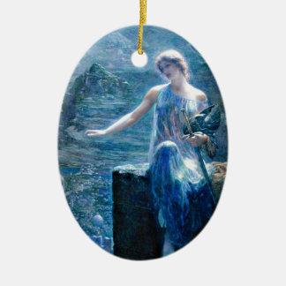 Valkyrie's Vigil Ceramic Ornament