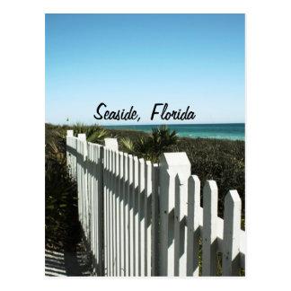 Valla de estacas - playa, FL Tarjeta Postal