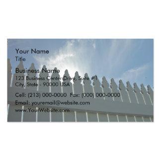 Valla de estacas tarjetas de visita