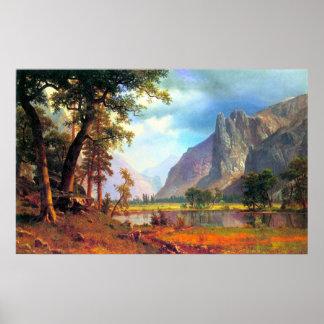 Valle 2 de Yosemite por Bierstadt Póster